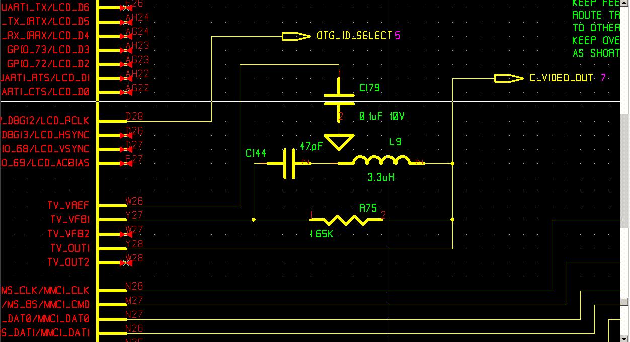 OMAP video feedback circuit