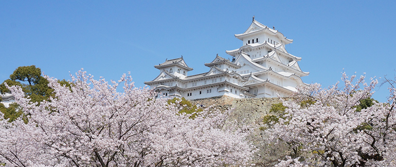 "The ""White Heron"" castle of Himeji"